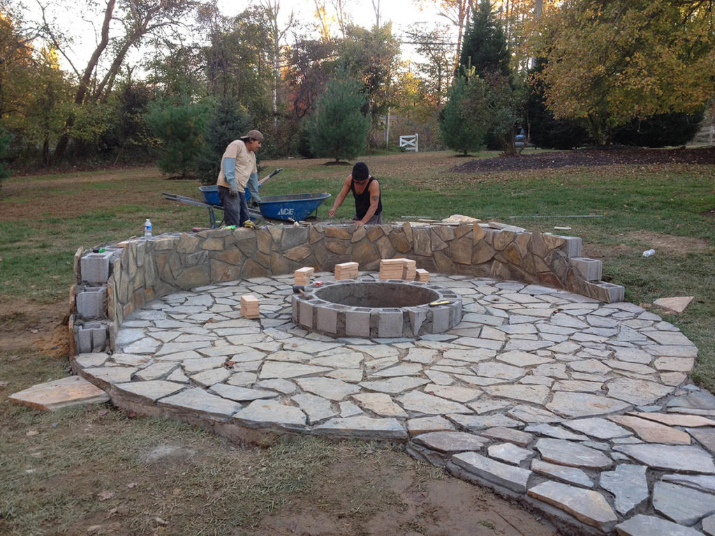 patio and firepit installation | LawnArtists
